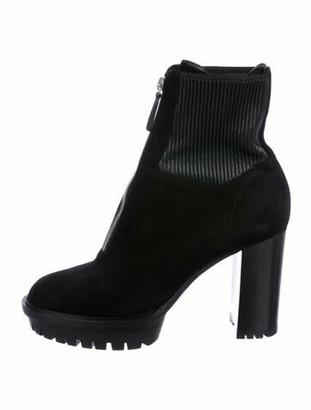 Gianvito Rossi Suede Boots Black