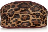 Alexander McQueen Leather-Trimmed Leopard-Print Calf Hair Waist Belt