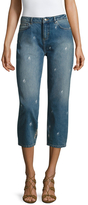 IRO Flek Embroidered Cropped Jean