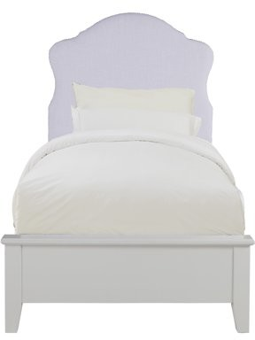 Home Meridian Upholstered Nailhead Trimmed Twin Bed Headboard in Lilac Purple