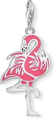 Thomas Sabo Women Charm Pendant Flamingo Pink 925 Sterling Silver 1519-041-10