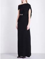 Roland Mouret Minton embellished silk-satin gown