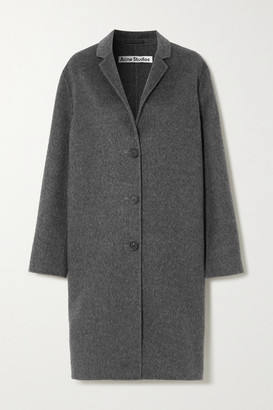 Acne Studios Brushed Wool And Alpaca-blend Coat - Gray