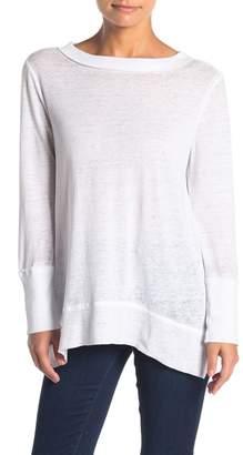 Susina Ribbed Trim Long Sleeve T-Shirt (Regular & Petite)