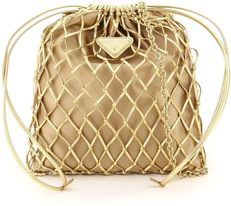 Prada Mesh Mini Bucket Bag