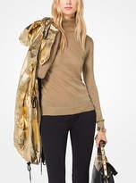 Michael Kors Metallic Turtleneck Pullover