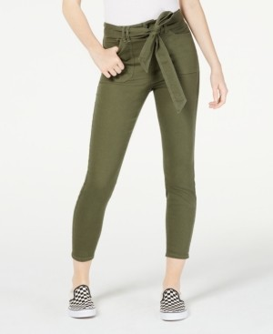 Vanilla Star Belted Cropped Jeans