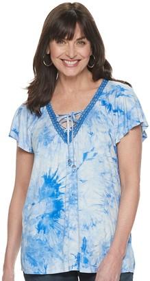 Women's World Unity Short Sleeve Flutter Tie up T-Shirt