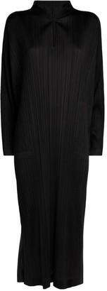 Pleats Please Issey Miyake Pleated Long-Sleeved Dress