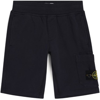 Stone Island Junior Pocket-Detail Sweatshorts
