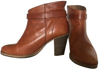 Vanessa Bruno Camel Leather Ankle boots