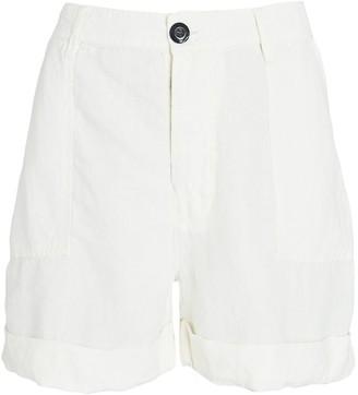 Frame Le Beau Cuffed Linen Shorts