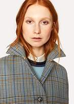 Paul Smith Women's Grey Checked Wool-Cotton Cocoon Coat