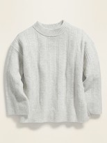 Old Navy Slouchy Soft-Brushed Pointelle-Knit Sweater for Girls