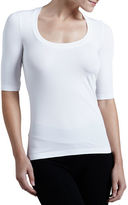 Wolford Como Scoop-Neck Half-Sleeve Shirt
