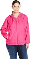 Big Chill Women's Plus-Size Lightweight Jacket with Mesh Lining