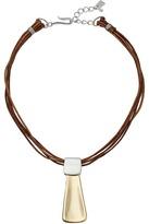 Robert Lee Morris Leather Pendant Necklace