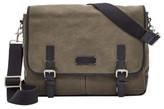 Fossil Men's 'Graham' Canvas Messenger Bag - Green