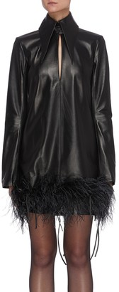 16Arlington Michelle' ostrich feather leather dress