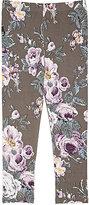 Imoga Floral Stretch Leggings-GREY