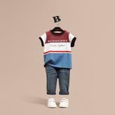 Burberry Multi Stripe Cotton T-shirt