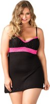 Leg Avenue Women's Plus Size Seraphina By Jersey Nightie with Lace