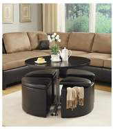 Red Barrel Studio Dempsey Gas Lift Coffee Table with Ottomans