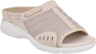 Easy Spirit Slip-on Rounded Toe Mesh Sandals -Terra