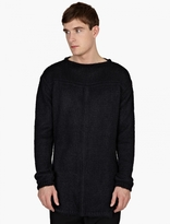 Rick Owens Black Longline Knitted Silk Sweater
