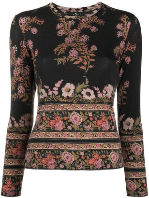 Etro Floral Print Slim-Fit Jumper