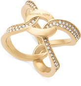 Michael Kors Pavé Crystal Interlock Ring
