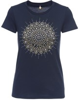 Juicy Couture Logo Studded Medallion Short Sleeve Tee