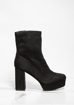 Missy Empire Margot Black Faux Suede Platform Boots