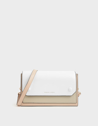 Charles & Keith Two-Tone Mini Clutch Bag