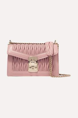 Miu Miu Confidential Matelassé Leather Shoulder Bag - Blush