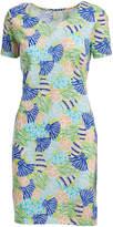 Caribbean Joe Limesicle Seashell Short-Sleeve Dress