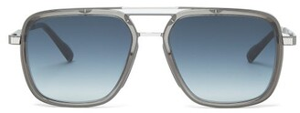 Cutler And Gross - Aviator Titanium And Acetate Sunglasses - Mens - Grey