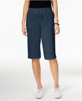 Karen Scott Petite Drawstring Skimmer Shorts, Created for Macy's