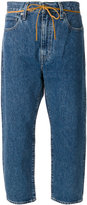 Levi's Made & Crafted - cropped drawstring jeans - women - Cotton - 29