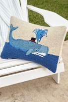 Soft Surroundings Whale with Top Hat Hooked Pillow