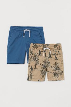H&M 2-pack Cotton Shorts - Beige
