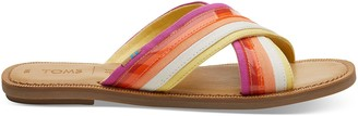 Toms Multi colour Canvas Viv Women's Sandals