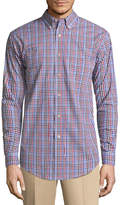 Haggar Long Sleeve Stretch Button-Front Shirt