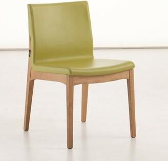 BEIGE Amelia Side Chair (Set of 2) YumanMod Fabric: Ecru Leather
