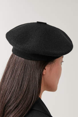 Cos BOILED WOOL BERET