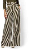New York & Co. 7th Avenue Pant - Paperbag-Waist Palazzo - Stripe