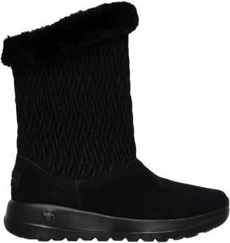 Skechers Go Walk Joy Suede Faux Fur Winter Boots