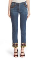 Etro Women's Beaded & Embroidered Crop Jeans