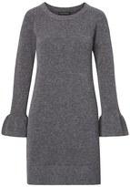 Banana Republic Ruffle-Cuff Wool-Blend Sweater Dress