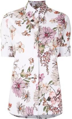 Adam Lippes Floral Print Short-Sleeved Shirt